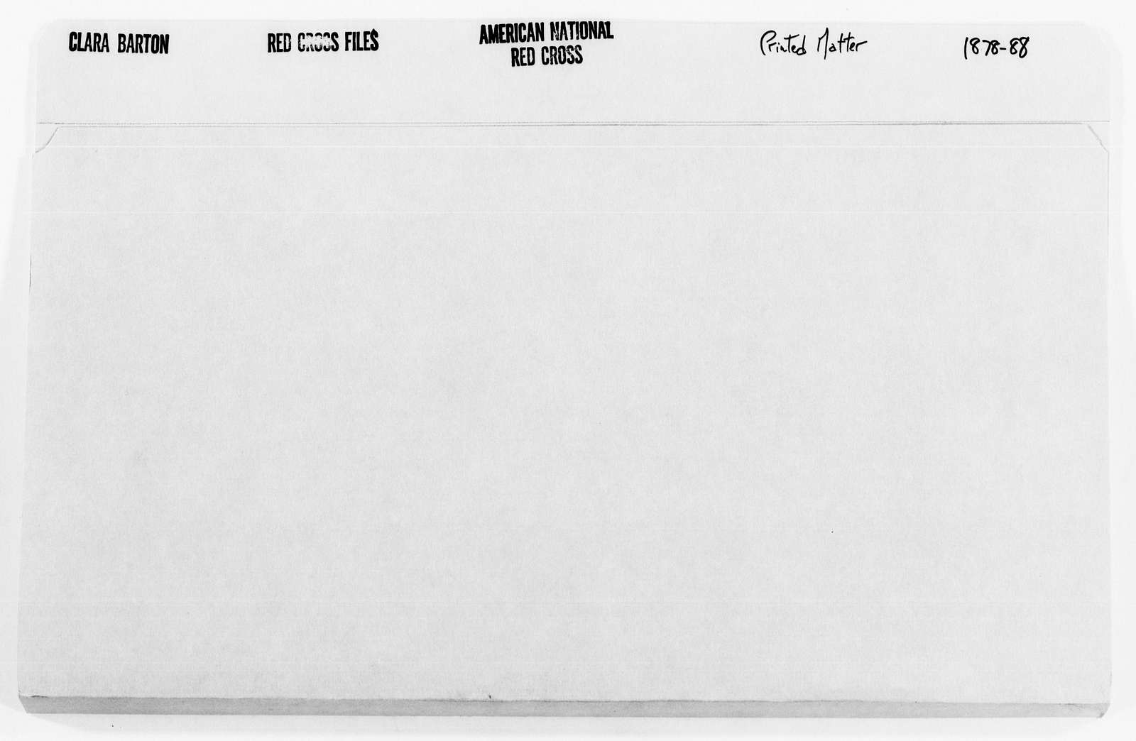 Clara Barton Papers: Red Cross File, 1863-1957; American National Red Cross, 1878-1957; Printed matter, 1878-1923, undated