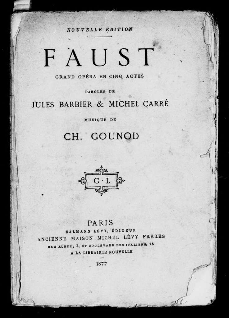 Faust. Libretto. French