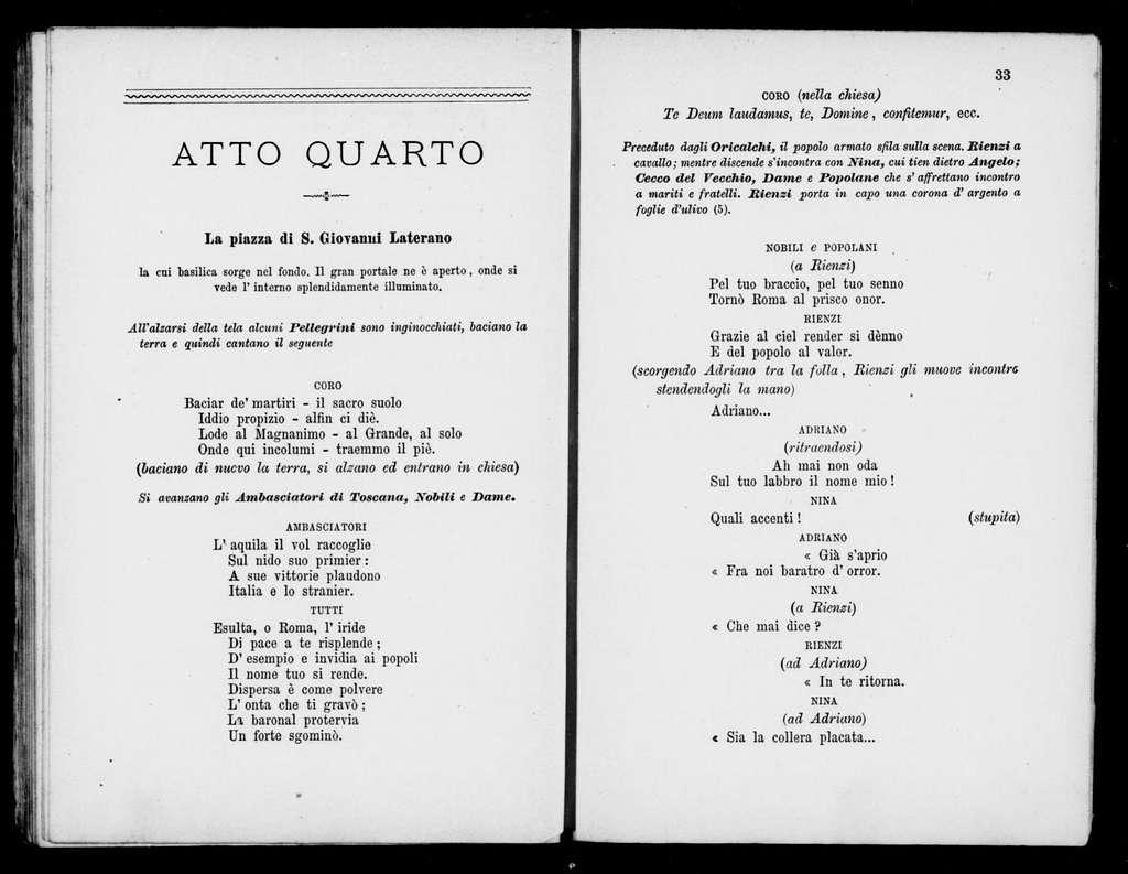 Cola di Rienzo. Libretto