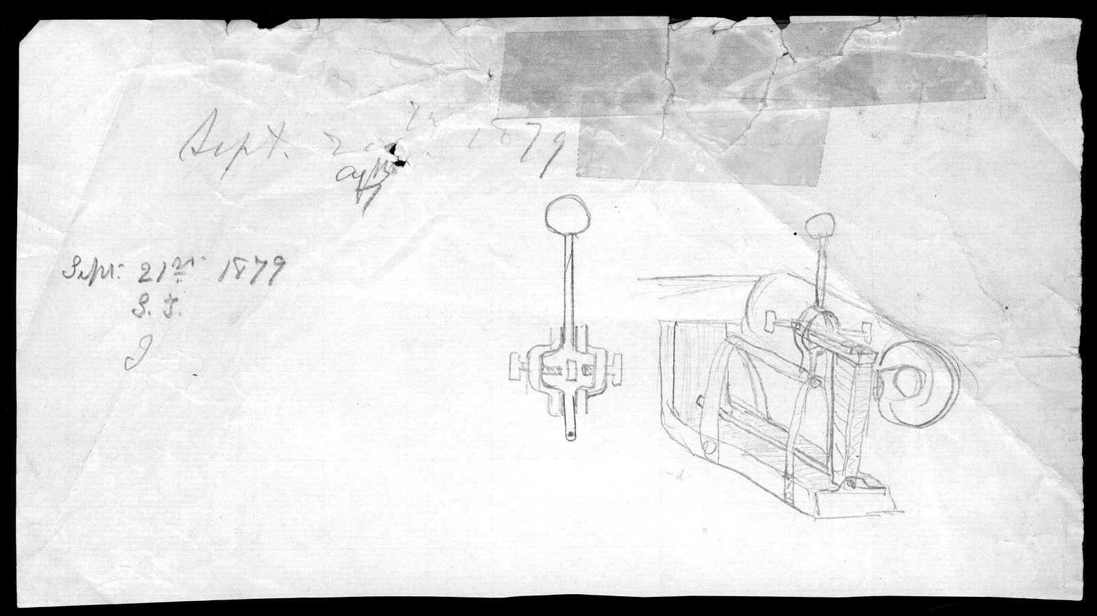 Drawing by Alexander Graham Bell, September 20, 1879