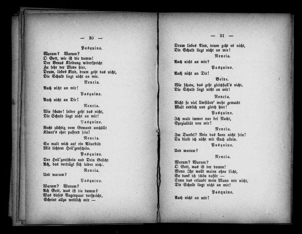 Fornarina. Libretto. German