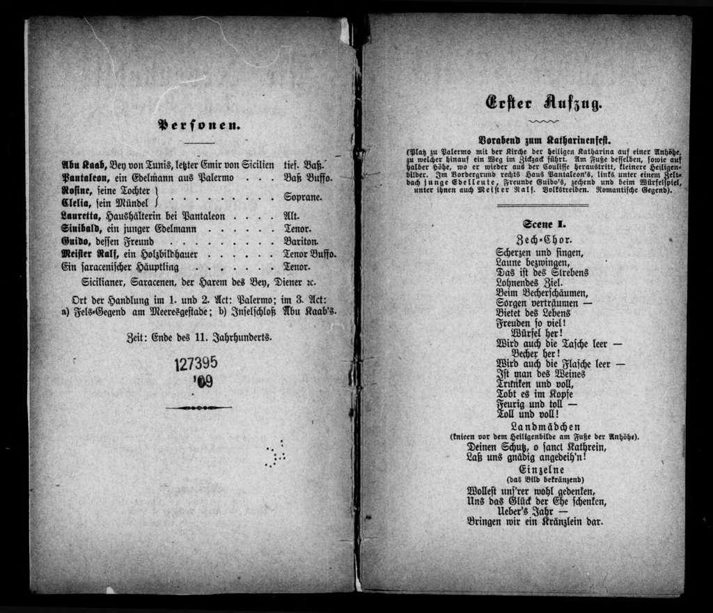 Nebenbuhler. Libretto. German