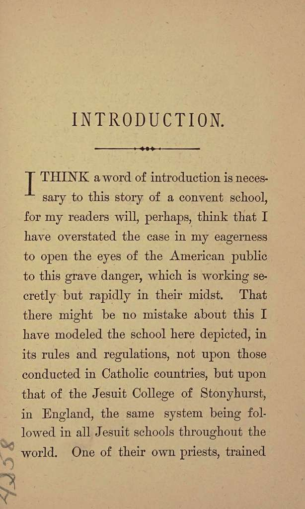 Amy's probation; or, Six months at a convent school; an answer to the question, shall Protestant girls be sent to Roman Catholic schools?