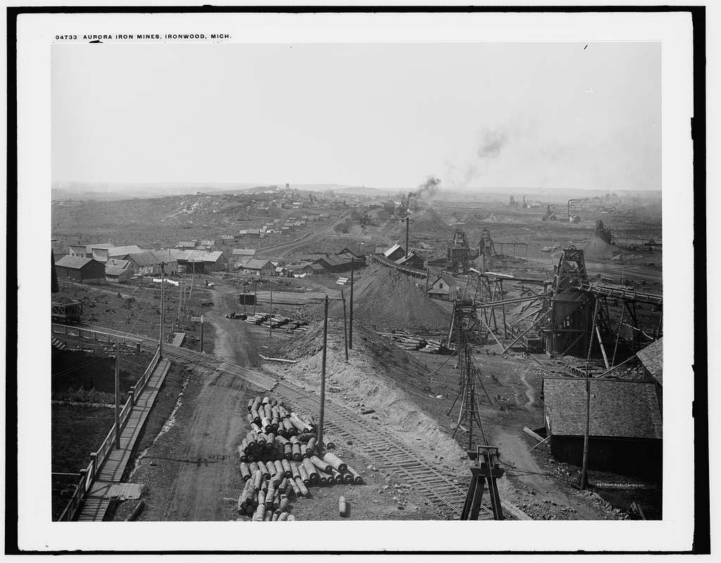 Aurora iron mines, Ironwood, Mich