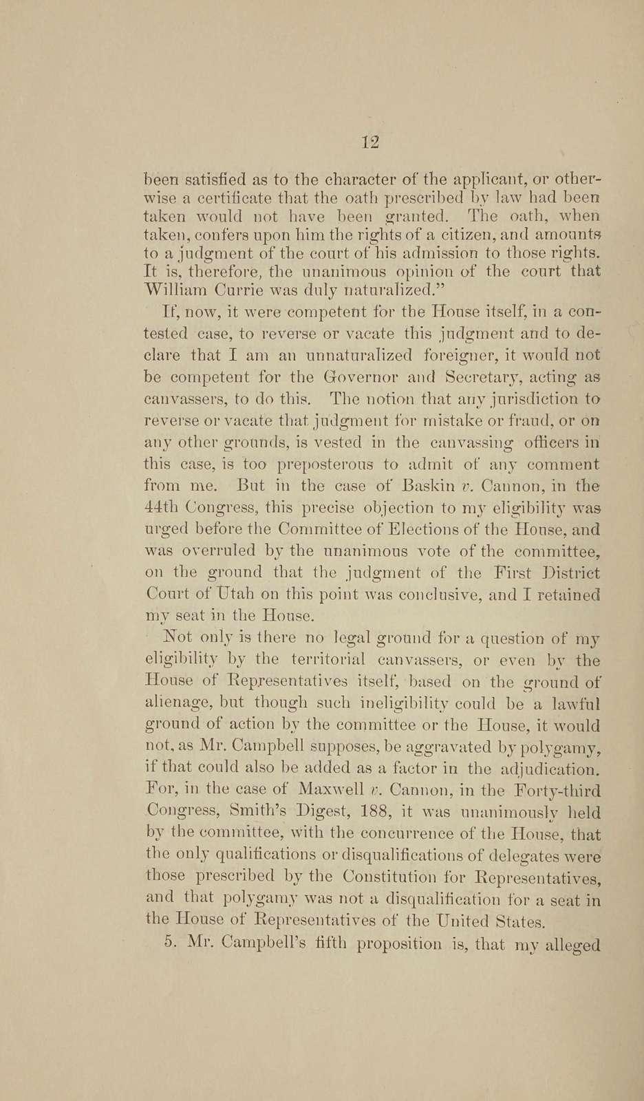 Before territorial canvassers, Utah Territory
