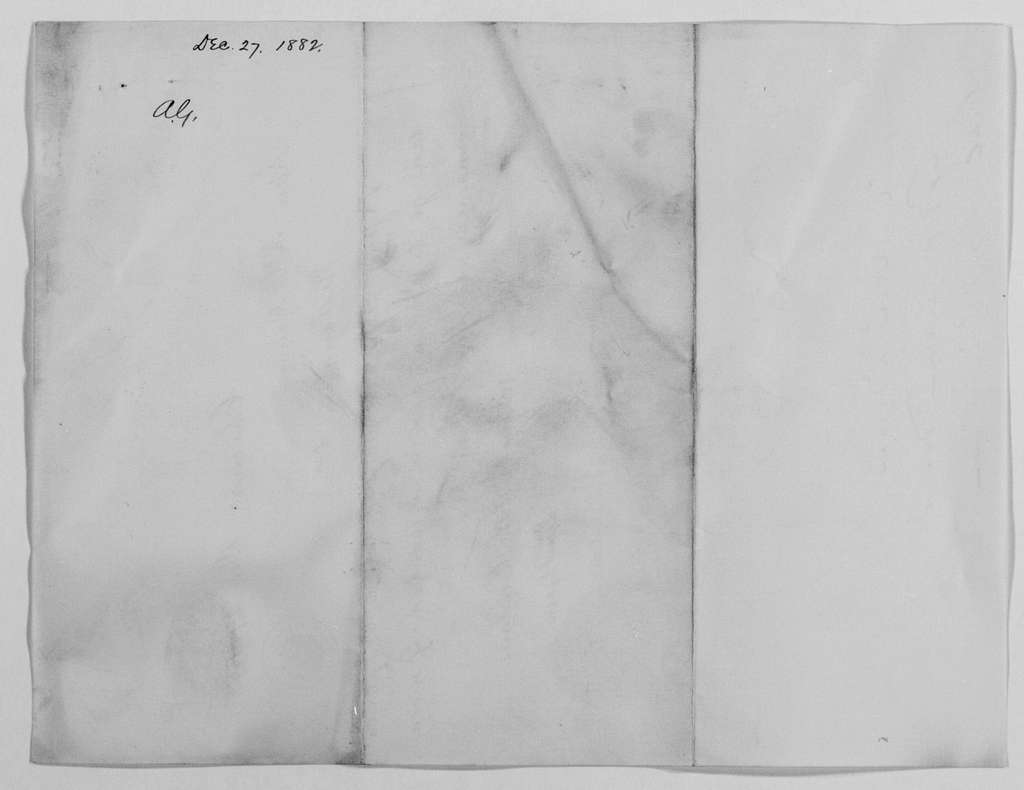 Philip Henry Sheridan Papers: General Correspondence, 1853-1888; 1882; Dec