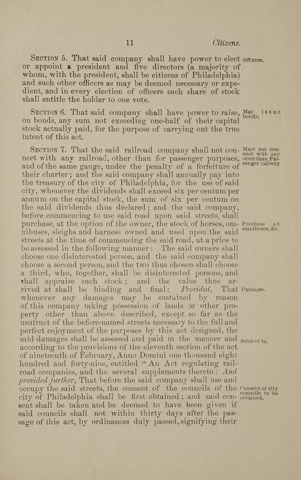 Acts of Assembly and ordinances relating to Philadelphia passenger railways and steam railroads within the city limits,