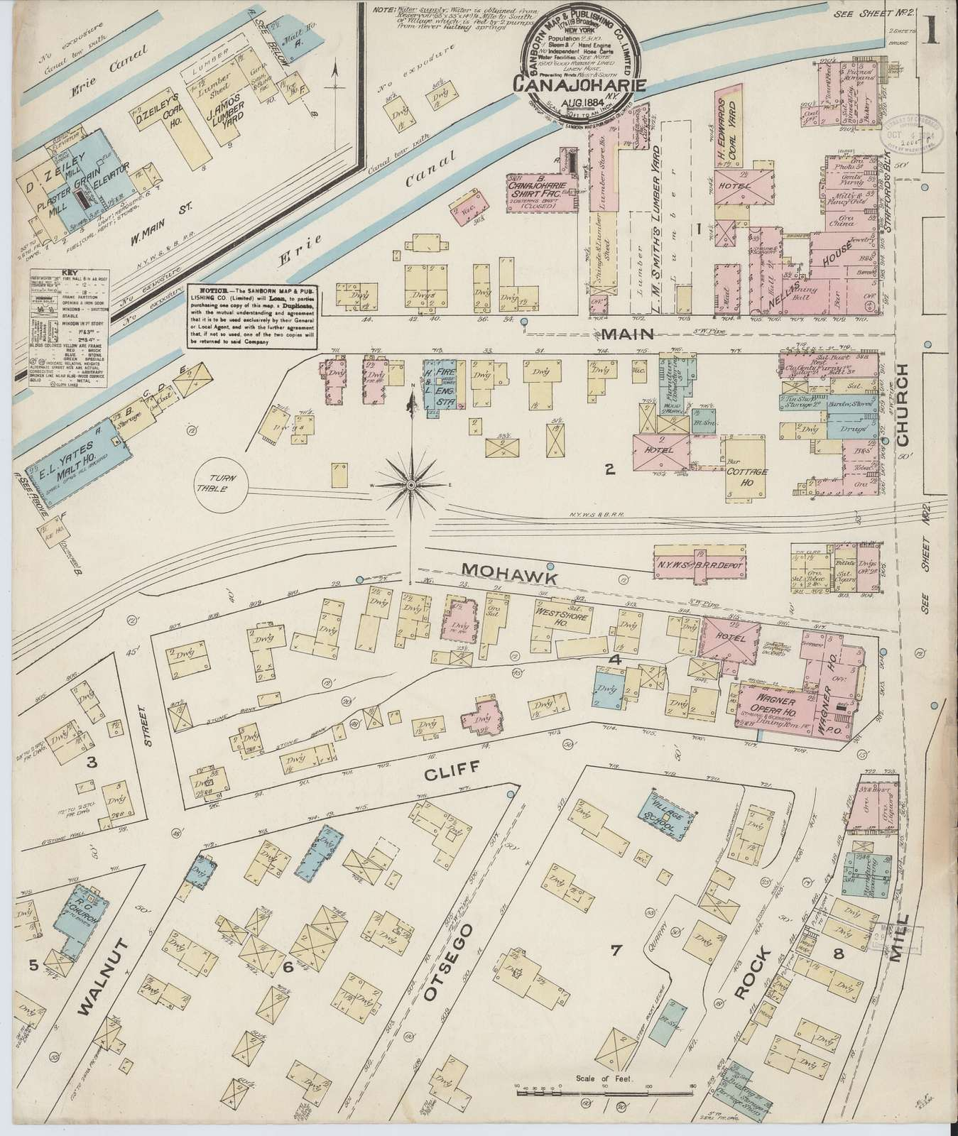 Sanborn Fire Insurance Map from Canajoharie, Montgomery County, New York