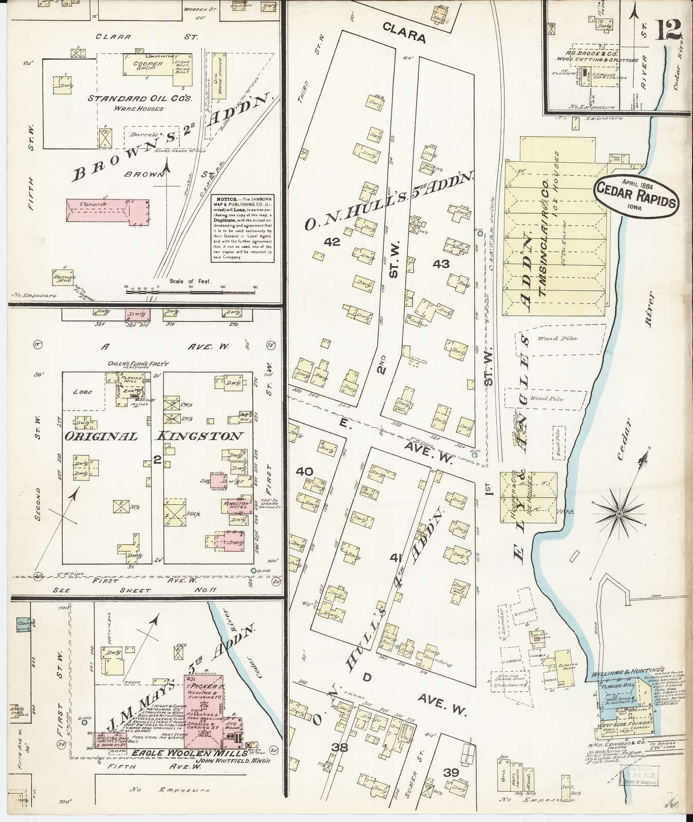 Sanborn Fire Insurance Map from Cedar Rapids, Linn County, Iowa