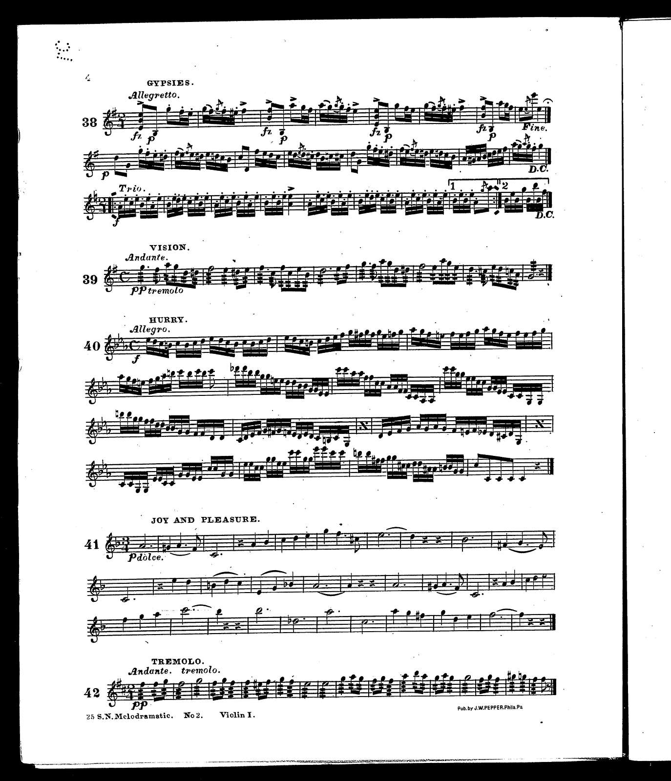 25 selected numbers; Melodramatic music, no. 2 orchestra