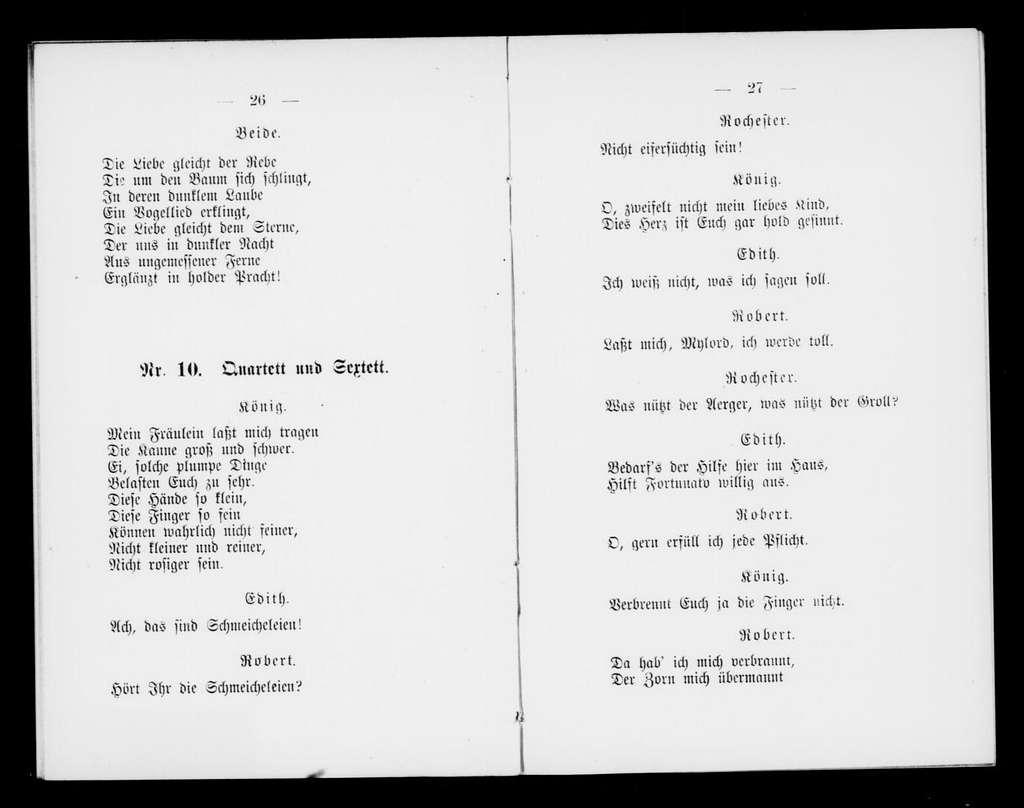 Fortunato. Libretto. German
