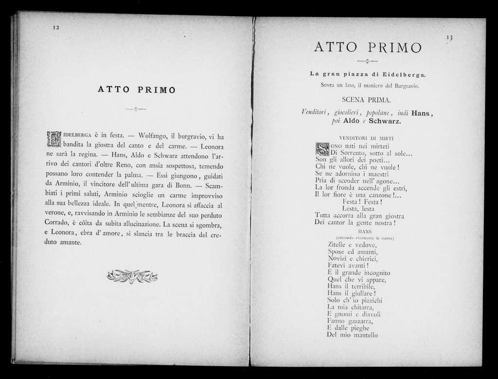 Leonora. Libretto. Italian