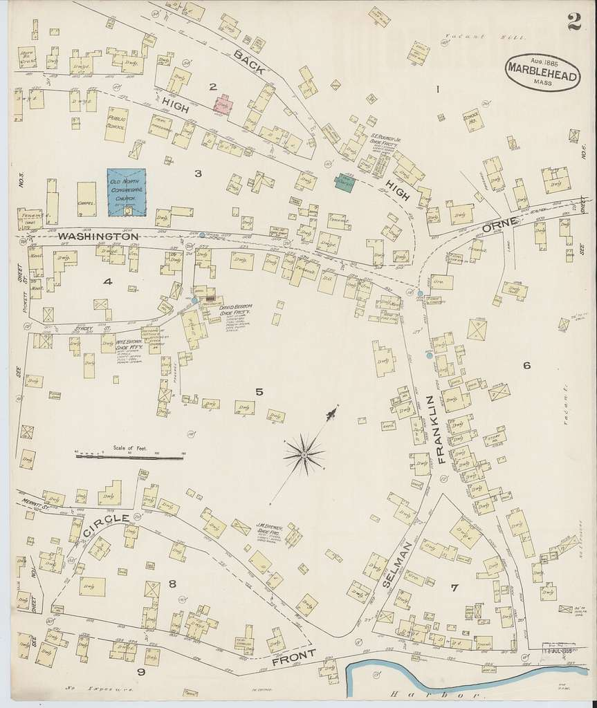 Sanborn Fire Insurance Map from Marblehead, Essex County, Massachusetts