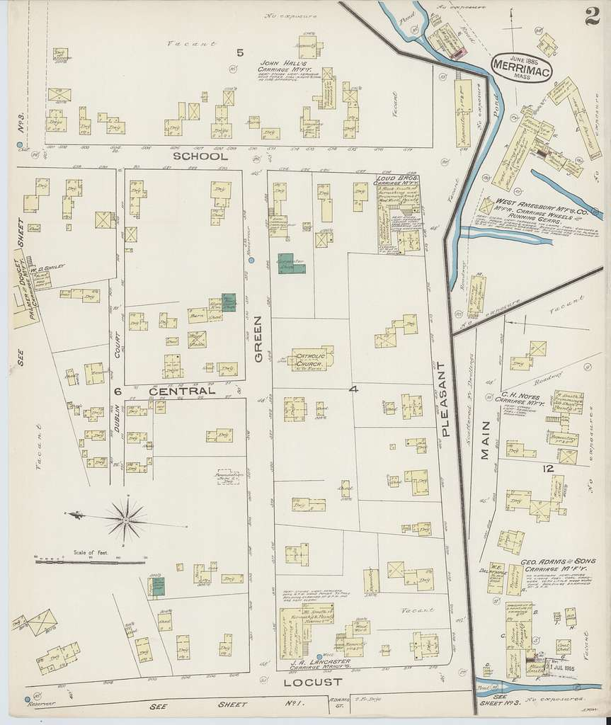 Sanborn Fire Insurance Map from Merrimac, Essex County, Massachusetts