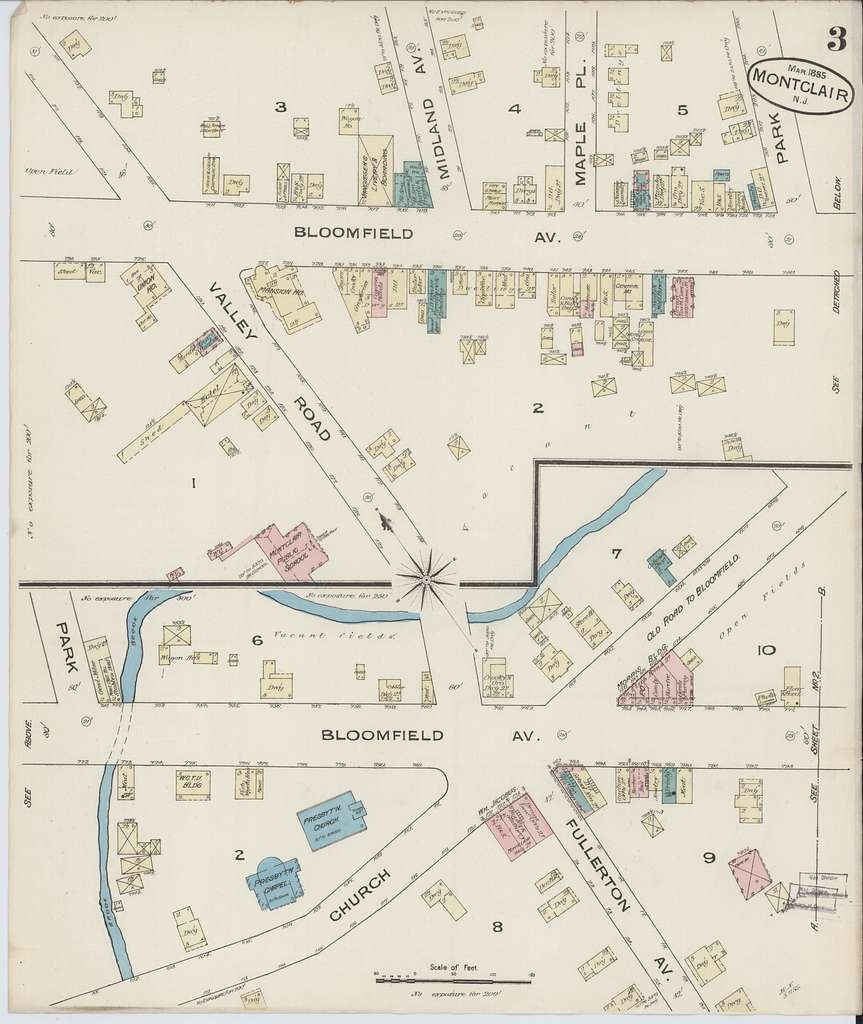 Sanborn Fire Insurance Map from Montclair, Essex County, New Jersey