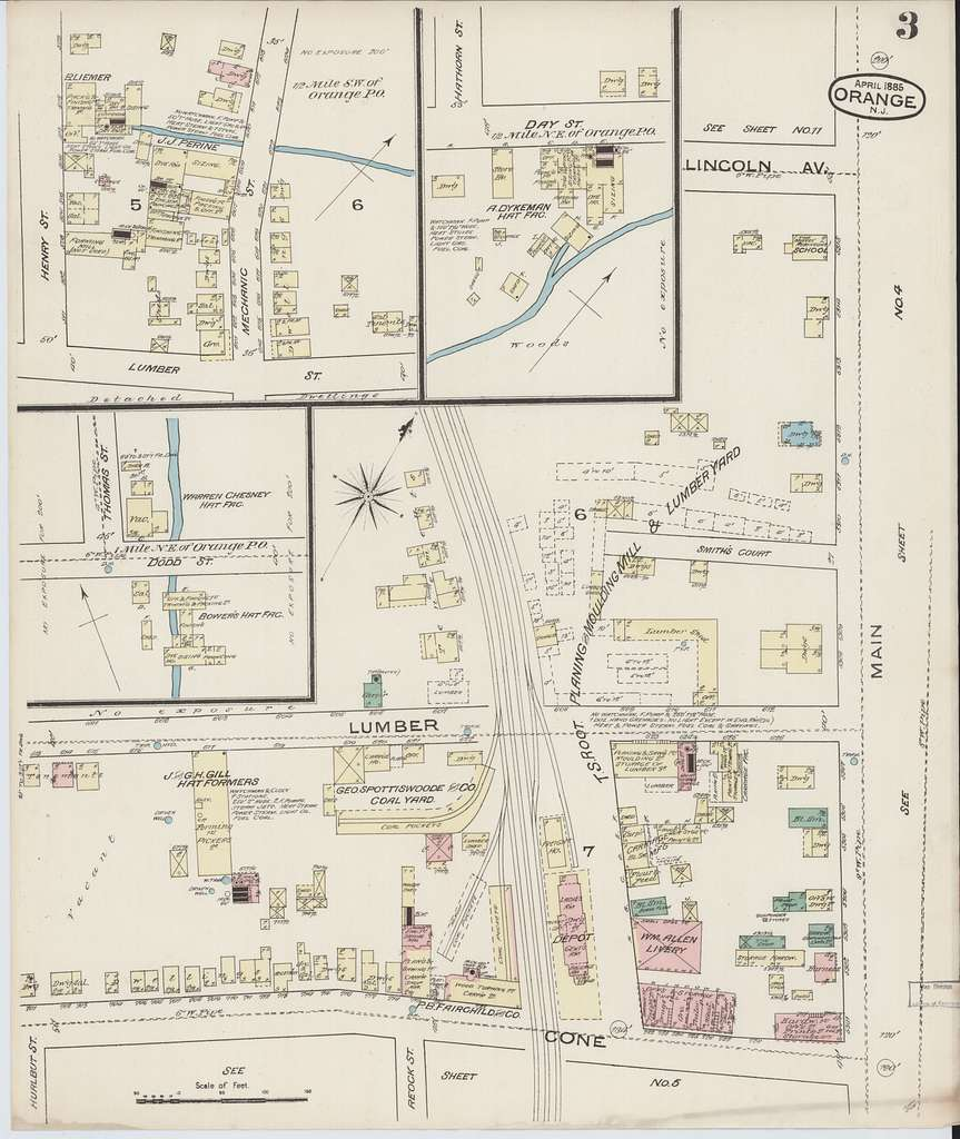 Sanborn Fire Insurance Map from Orange, Essex County, New Jersey