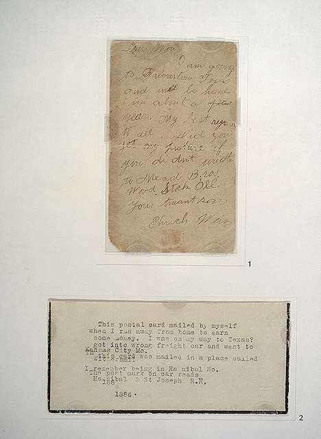 Postcard from Ehrich Weiss to his mother