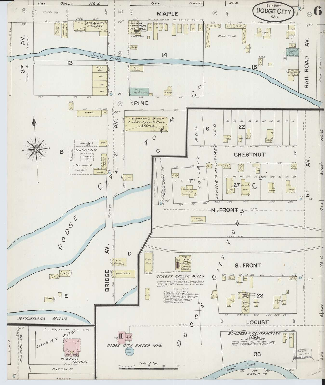 Sanborn Fire Insurance Map from Dodge City, Ford County, Kansas