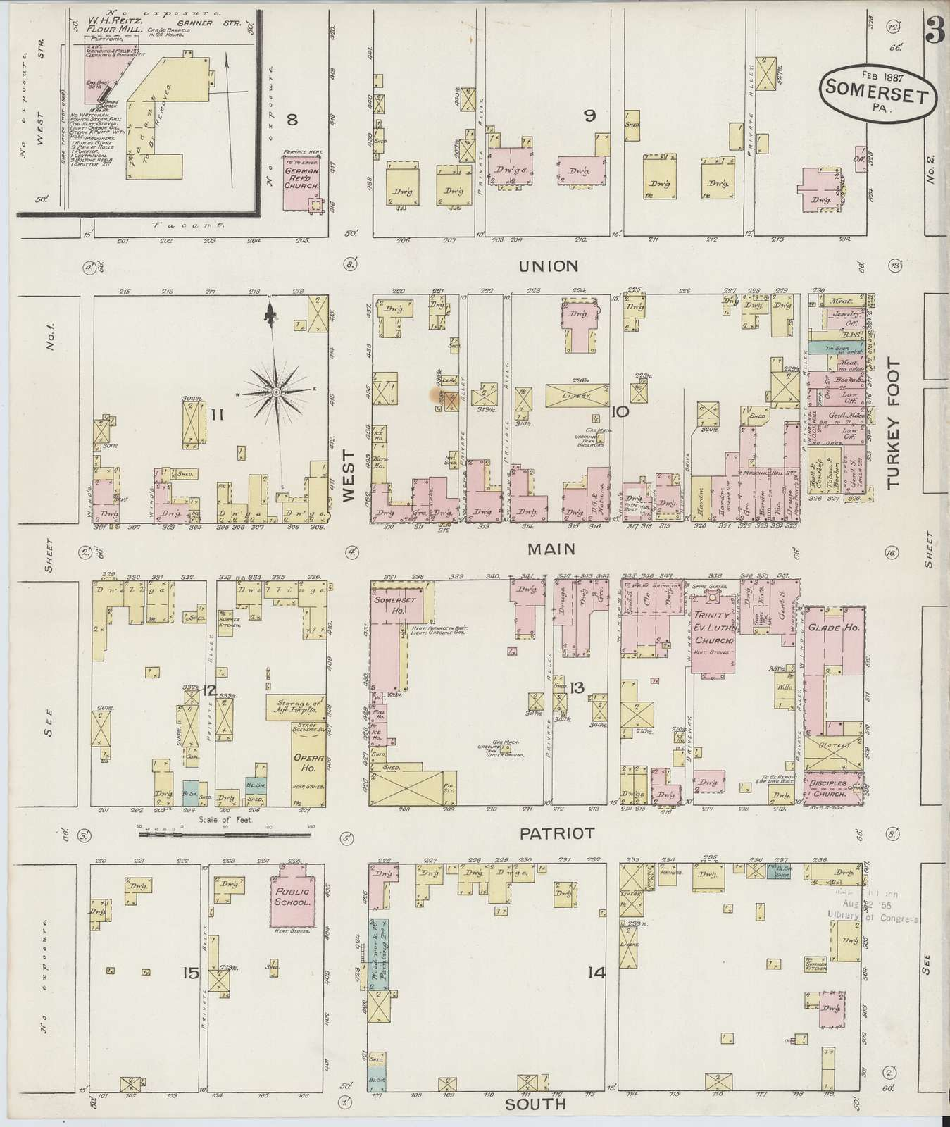 Sanborn Fire Insurance Map from Somerset, Somerset County, Pennsylvania