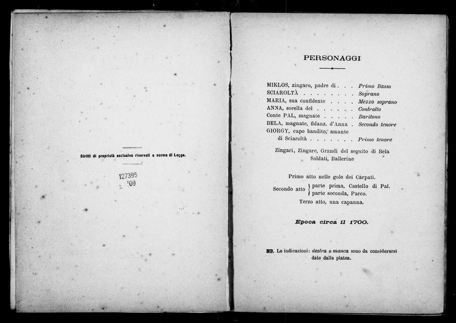 Sciaroltà. Libretto. Italian