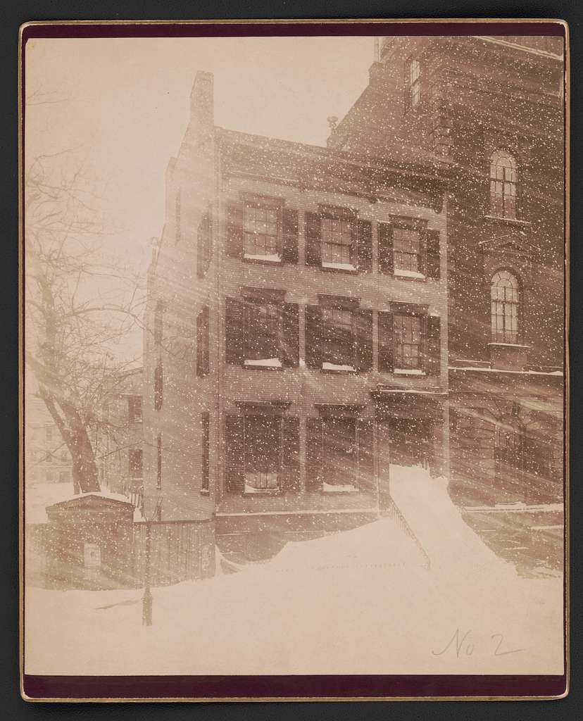 New York City house in the blizzard of 1888 C.H. Jordan & Co., view and landscape photographer