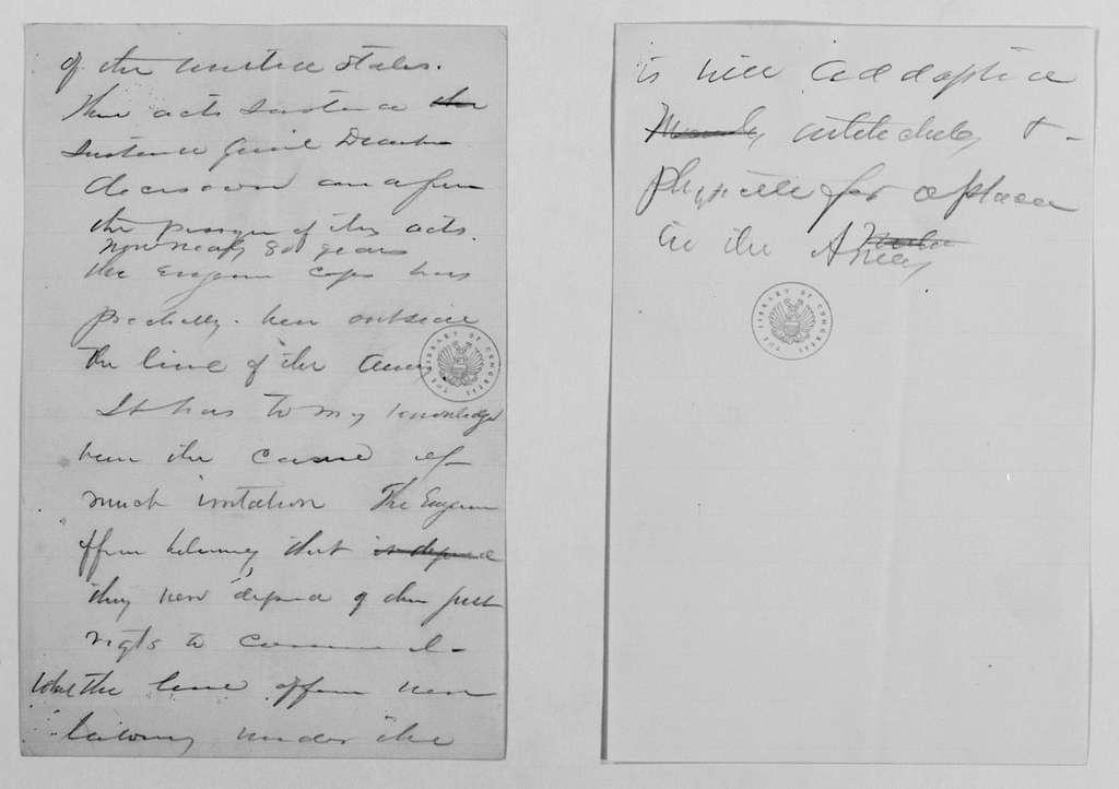 Philip Henry Sheridan Papers: General Correspondence, 1853-1888; 1888; Apr