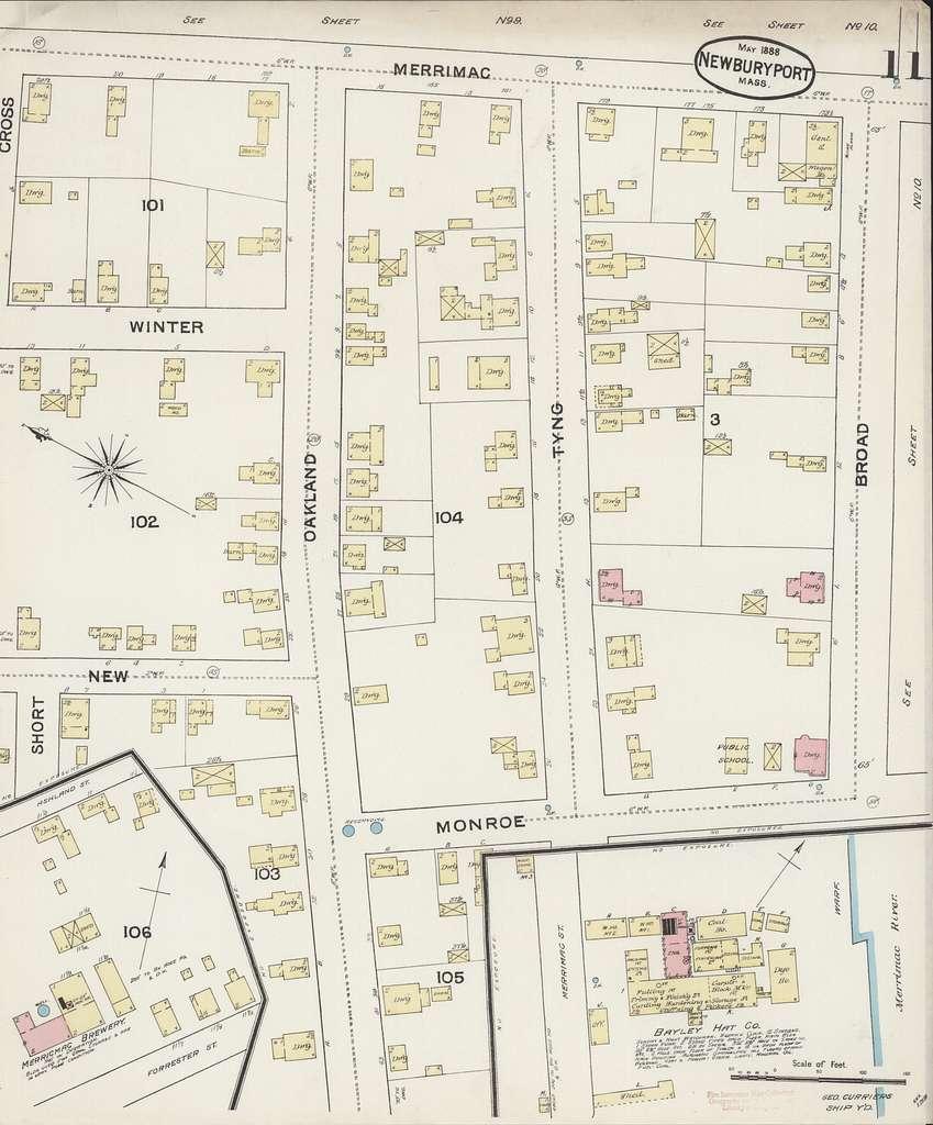 Sanborn Fire Insurance Map from Newburyport, Essex County, Massachusetts