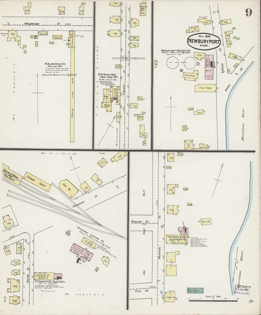 Sanborn Fire Insurance Map from Newburyport, Essex County, Massachusetts