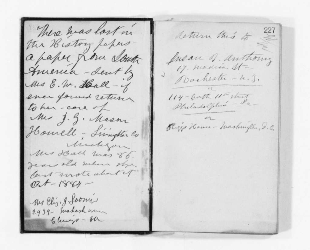 Susan B. Anthony Papers: Daybook and Diaries, 1856-1906; Diaries; 1888