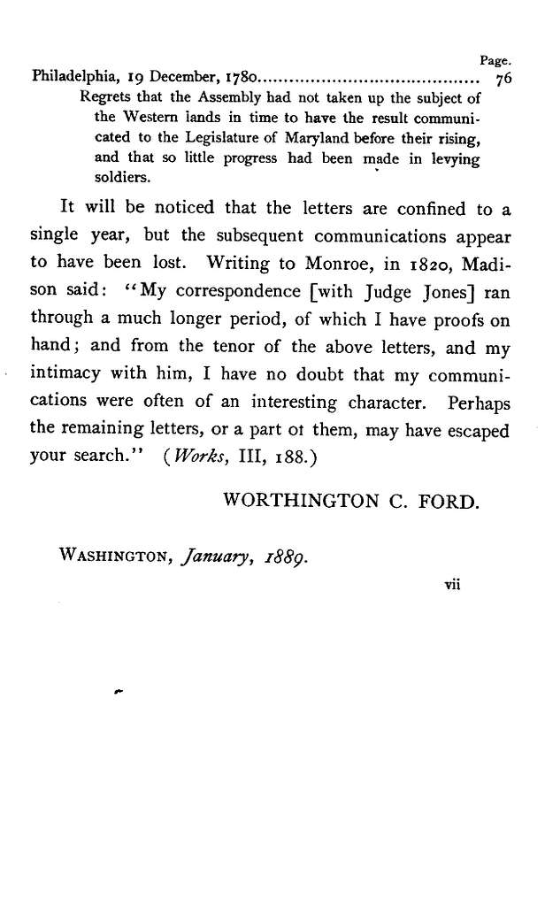 Letters of Joseph Jones of Virginia, 1777-1787