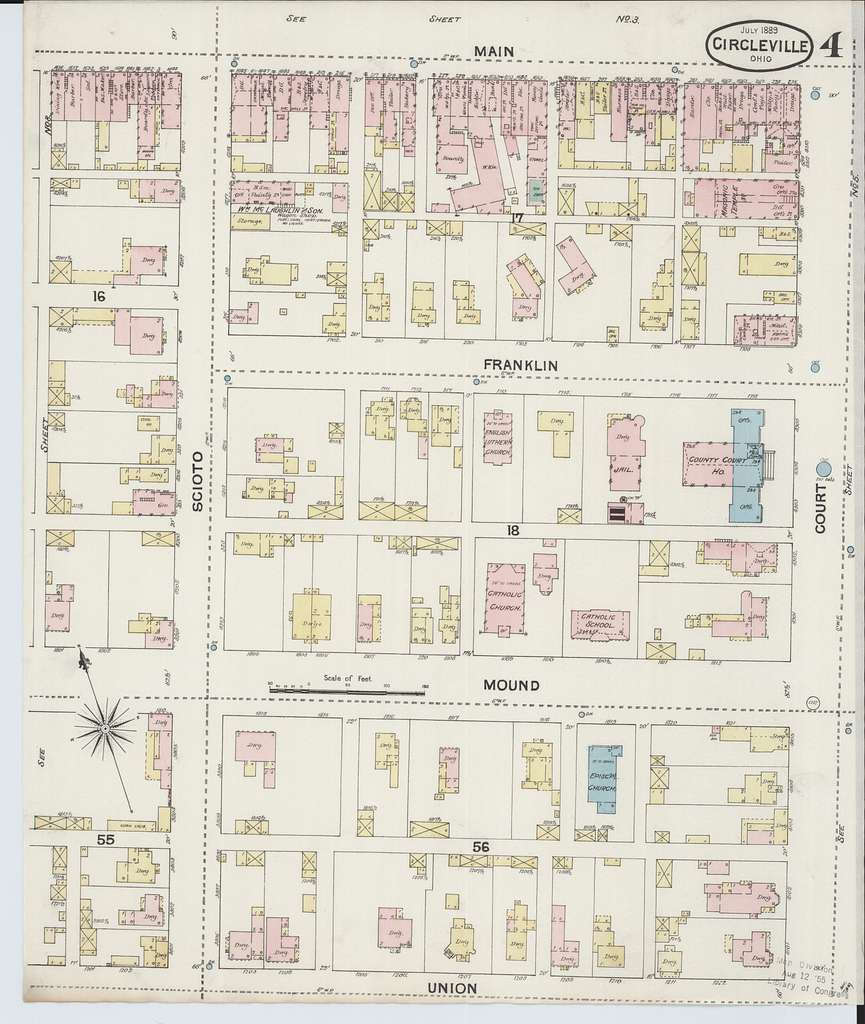 Sanborn Fire Insurance Map from Circleville, Pickaway County, Ohio