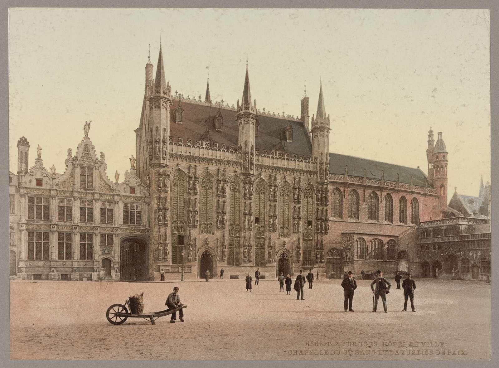 Bruges. Hôtel de Ville. Chapelle du St. Sang et la Justice de Paix