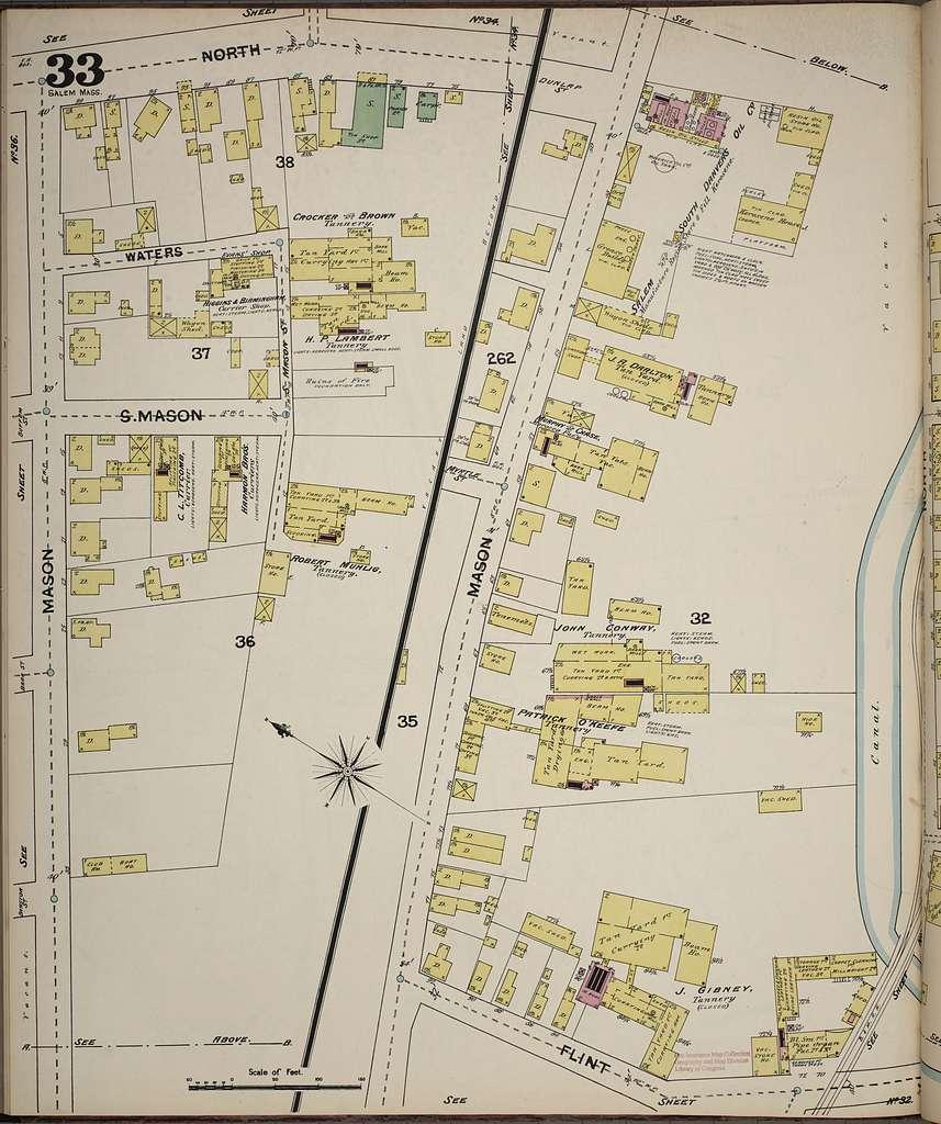 Sanborn Fire Insurance Map from Salem, Essex County, Massachusetts