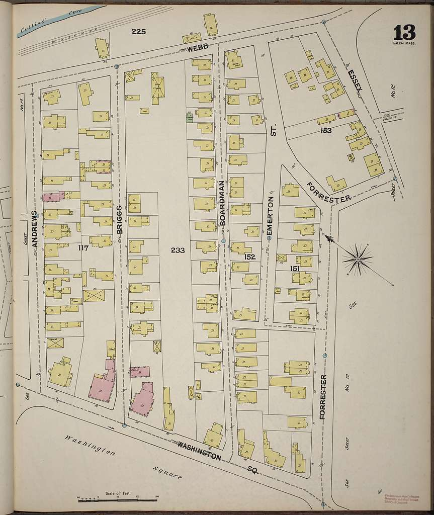 Sanborn Fire Insurance Map from Salem, Essex County, Massachusetts
