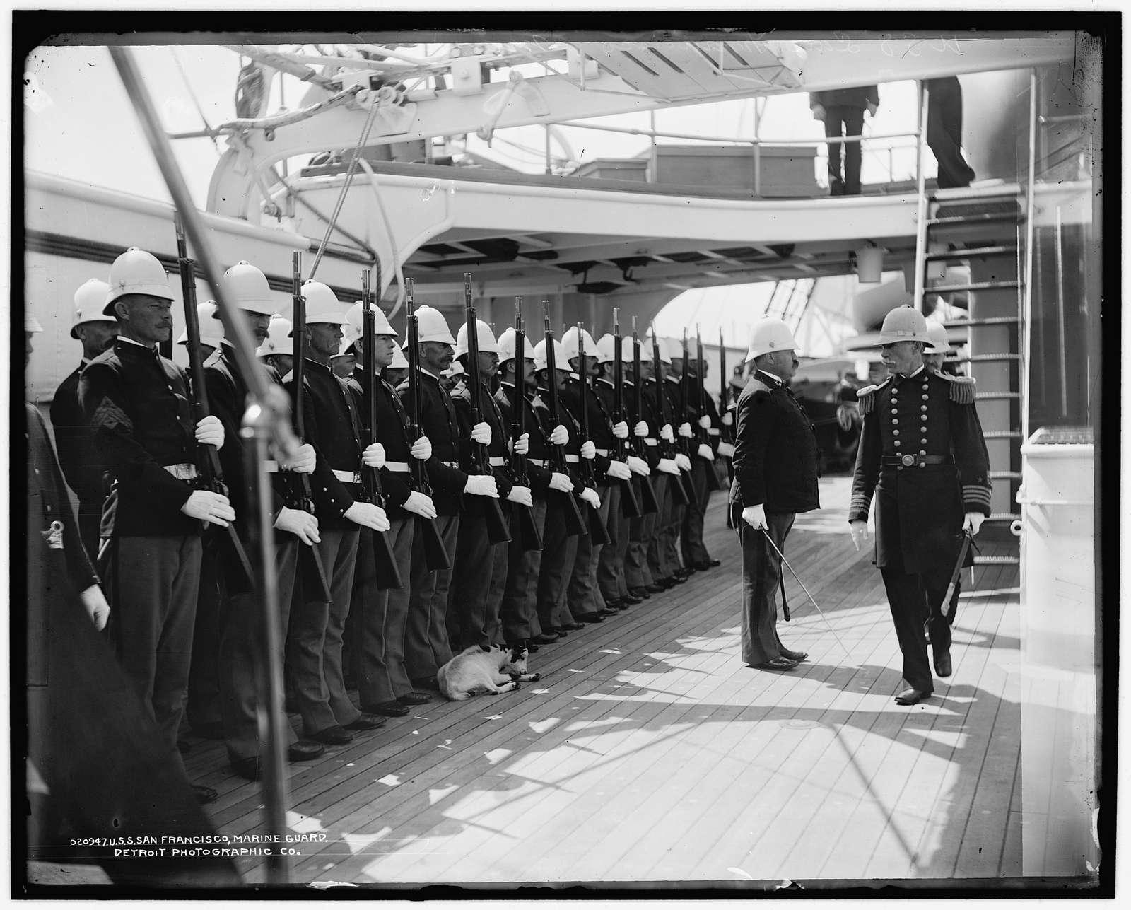 U.S.S. San Francisco, Marine guard