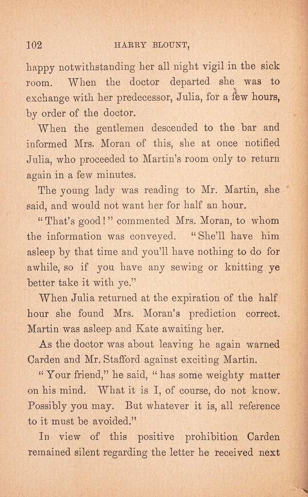 Harry Blount, the detective;