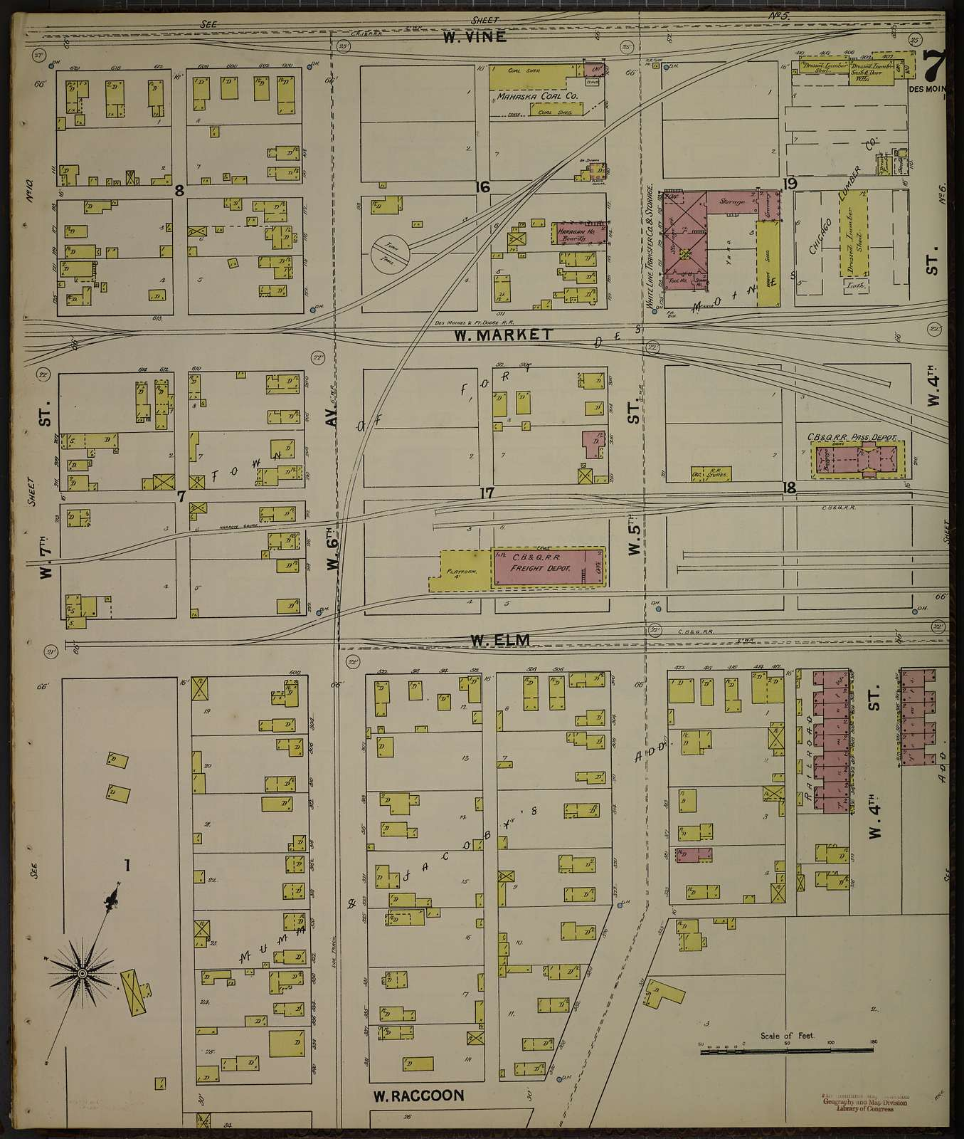 Sanborn Fire Insurance Map from Des Moines, Polk County, Iowa
