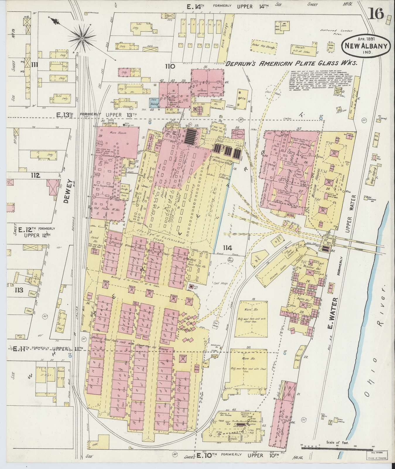 Sanborn Fire Insurance Map from New Albany, Floyd County, Indiana