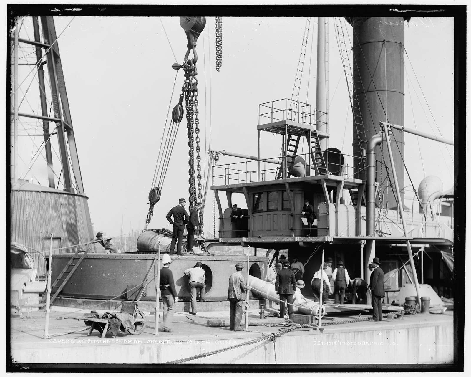 U.S.S. Miantonomoh, mounting 10-inch guns