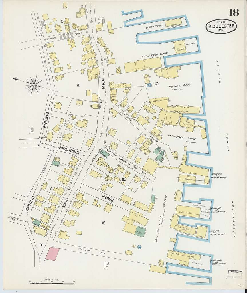 Sanborn Fire Insurance Map from Gloucester, Essex County, Massachusetts