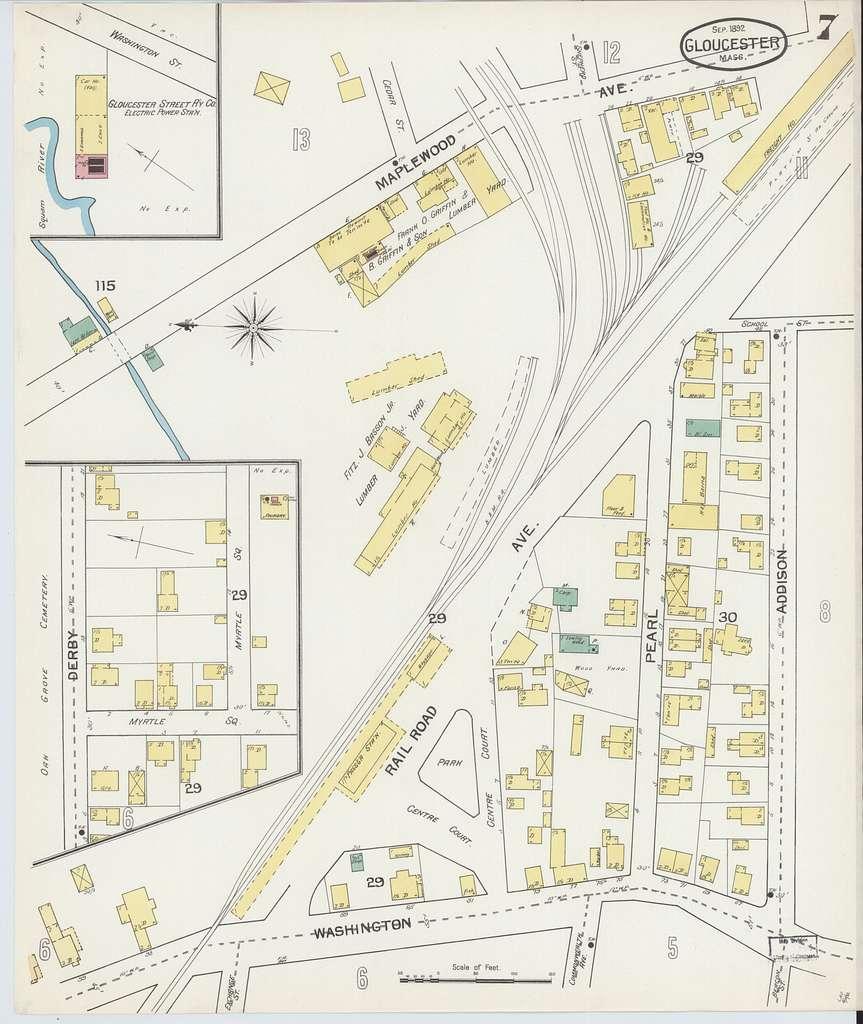 Sanborn Fire Insurance Map from Gloucester, Essex County, Massachusetts