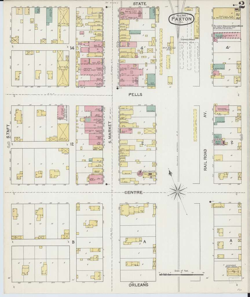 Sanborn Fire Insurance Map from Paxton, Ford County, Illinois