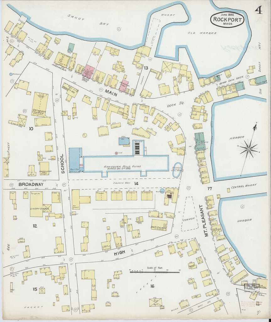 Sanborn Fire Insurance Map from Rockport, Essex County, Massachusetts