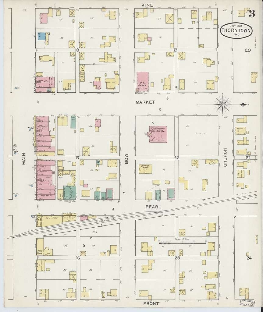 Sanborn Fire Insurance Map from Thorntown, Boone County, Indiana