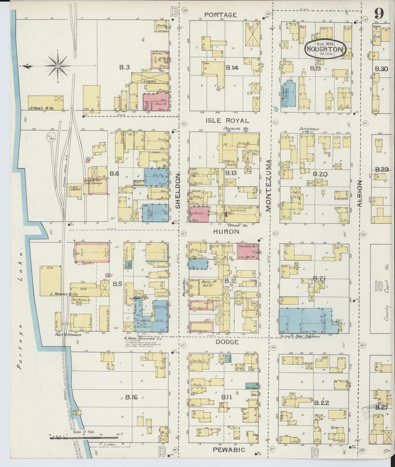 Sanborn Fire Insurance Map from Houghton, Houghton County, Michigan