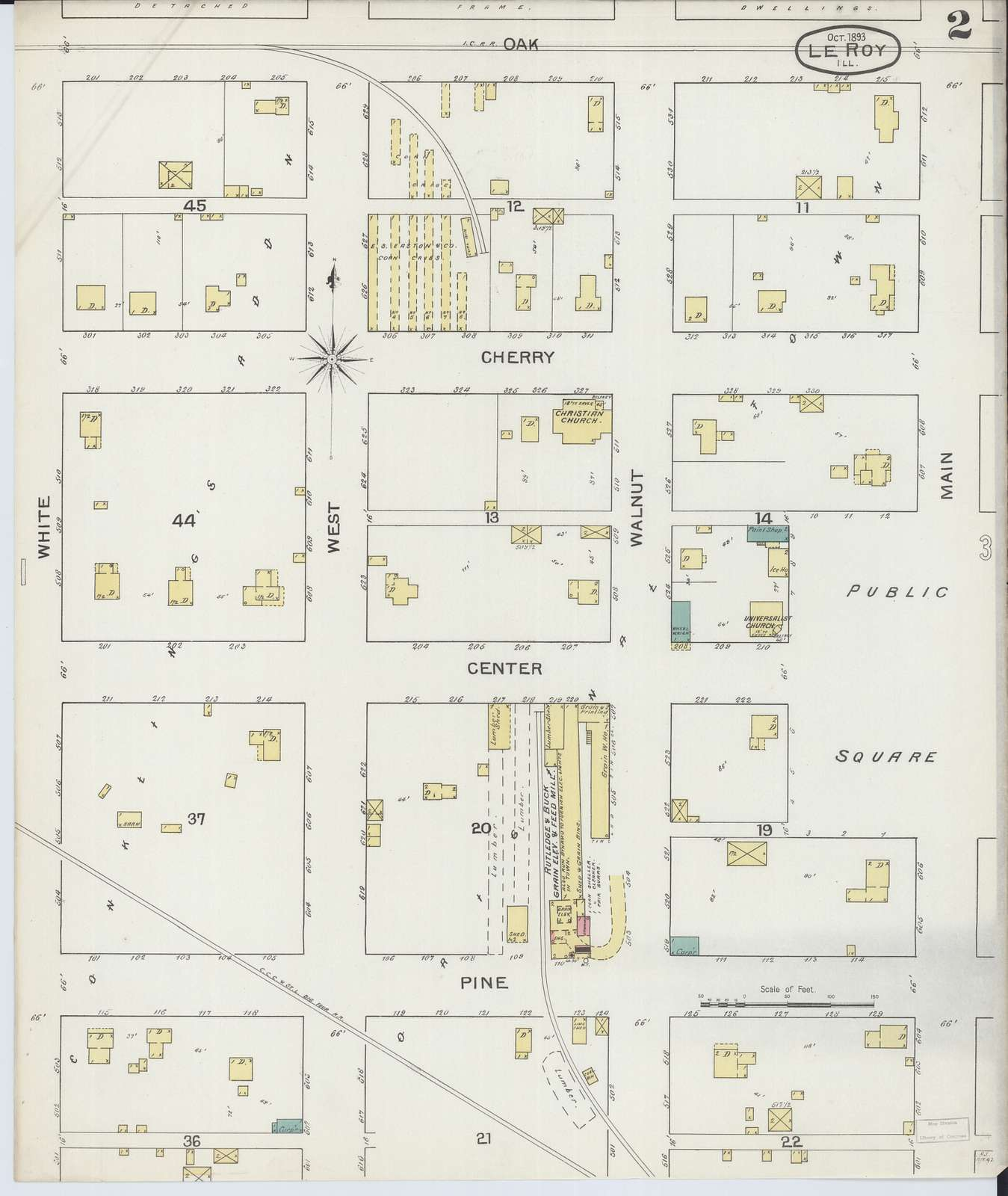 Sanborn Fire Insurance Map from Leroy, McLean County ...