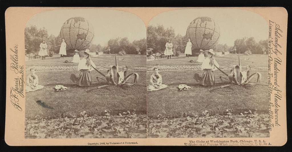 The globe at Washington Park, Chicago, U.S.A