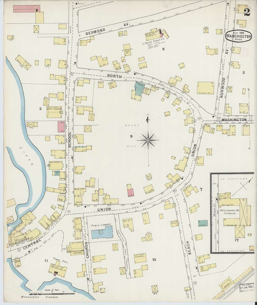 Sanborn Fire Insurance Map from Manchester, Essex County, Massachusetts