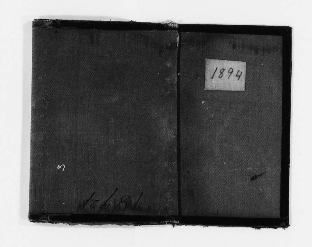 Susan B. Anthony Papers: Daybook and Diaries, 1856-1906; Diaries; 1894