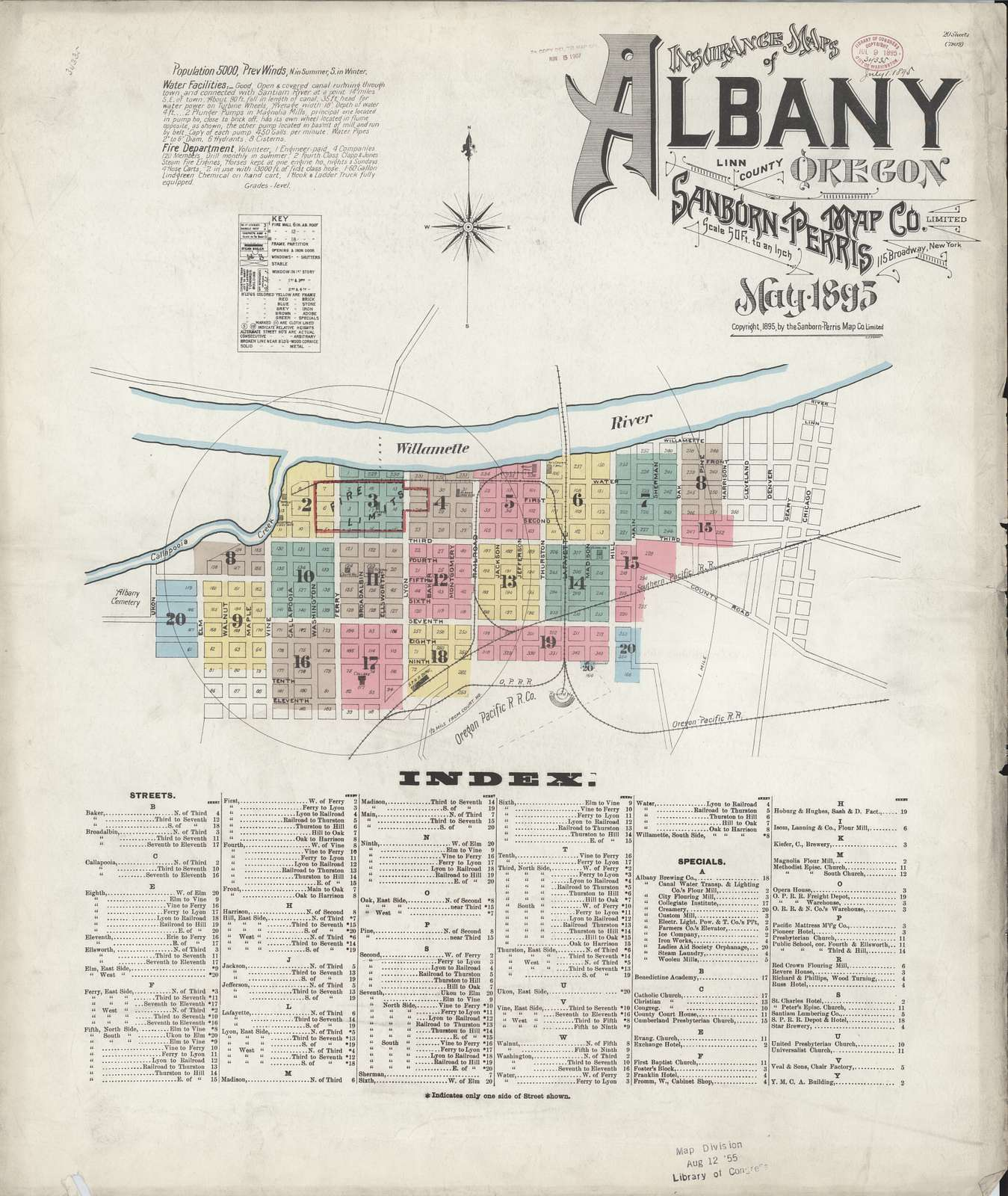 Sanborn Fire Insurance Map from Albany, Linn County, Oregon